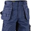 Blaklader 9.5oz. Flame Resistant Navy Blue Work Pants 163615508900 Front Pockets
