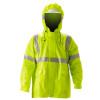 NASCO FR Class 3 Hi Vis ArcLite Nomex Rain Jacket with Bib Trouser Set 1500-SET Jacket Close Up