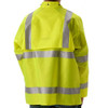 NASCO Class 3 Hi Vis WorkLite Made in USA Rain Jacket with D-Ring Access 80JF Back