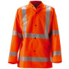 NASCO Class 3 Hi Vis WorkLite Made in USA Rain Jacket with D-Ring Access 80JF Orange
