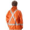 NASCO FR Class 2 Hi Vis X-Back Orange PetroLite Arc Flash Fire & Chemical Splash Rain Jacket 9003JBO245 Back