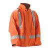 NASCO FR Class 2 Hi Vis X-Back Orange PetroLite Arc Flash Fire Made in USA Rain Jacket 9003JBO245 Front