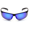 Box of 12 Pyramex Ever-Lite Ice Blue Mirror Lens Safety Glasses SB8665D Front