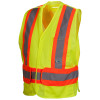 Class 2 Two-Toned Breakaway Lime Safety Vest RCA2710