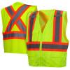 Class 2 X-Back Two-Toned Lime Safety Vest RCZ2410