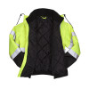 Pyramex Class 3 Hi Vis Lime Black Bottom Weatherproof Bomber Jacket Quilted Liner RJ3210 Inside