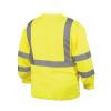 Pyramex Class 3 Hi Vis Lime Moisture Wicking Long Sleeve T Shirt RLTS3110 Back