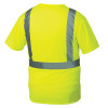 Pyramex Class 2 Hi Vis Lime Moisture Wicking T-Shirt with Chest Pocket RTS2110 Back
