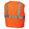 Pyramex Class 2 Hi Vis Orange Safety Vests RVZ2120 Back