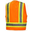 Pyramex Class 2 Hi Vis Orange Two-Toned Safety Vests RVZ2420 Back