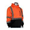 PIP Class 3 Hi Vis Hooded Pullover Sweatshirt with Black Bottom 323-1350B Orange