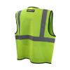 DeWALT Class 2 Hi Vis Green Economy Mesh Vest with Black Trim DSV220 Back