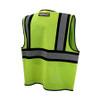 DeWALT Class 2 Hi Vis Lime Two Tone Mesh Vest DSV221 Back