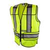 DeWALT Class 2 Hi Vis Lime Adjustable Breakaway Vest DSV421 Front