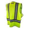 DeWALT Class 2 Hi Vis Lime Adjustable Breakaway Vest DSV421 Back