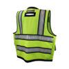 DeWALT Class 2 Hi Vis Green Heavy Duty Surveyor Vest with Black Bottom Trim DSV521 Back