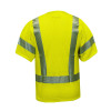 NSA FR Class 3 Hi-Vis Yellow Arc Flash Mesh Made in USA Vest V00HA3V Back