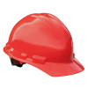 Radians Box of 20 Made in USA Hard Hats with 6 Point Ratchet Suspension GHR6 red