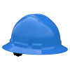 Radians Box Of 10 Full Brim 6 Point Ratchet Suspension Made in USA Hard Hats QHR6 blue