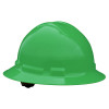 Radians Box Of 10 Full Brim 6 Point Ratchet Suspension Made in USA Hard Hats QHR6 green