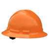 Radians Box Of 10 Full Brim 6 Point Ratchet Suspension Made in USA Hard Hats QHR6 hi vis orange
