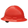 Radians Box Of 10 Full Brim 6 Point Ratchet Suspension Made in USA Hard Hats QHR6 red