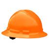 Radians Box Of 10 Full Brim 6 Point Ratchet Suspension Made in USA Hard Hats QHR6 orange