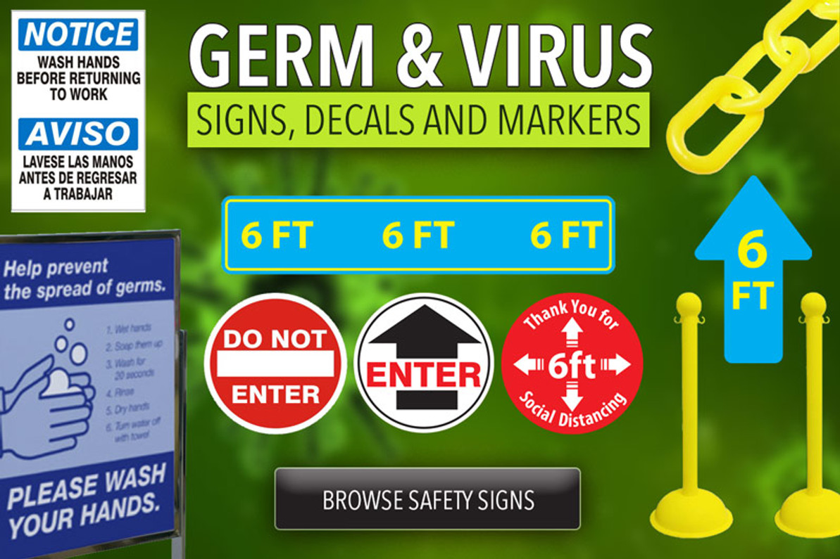 Safety Signs - Germ & Virus