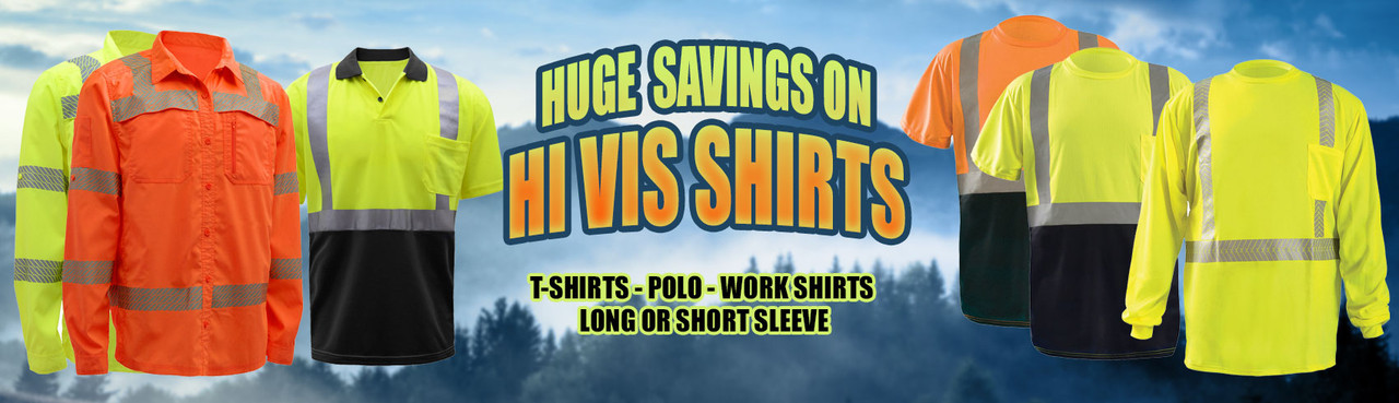 Huge Savings of Reflective Hi Vis T-Shirts and Safety Shirts