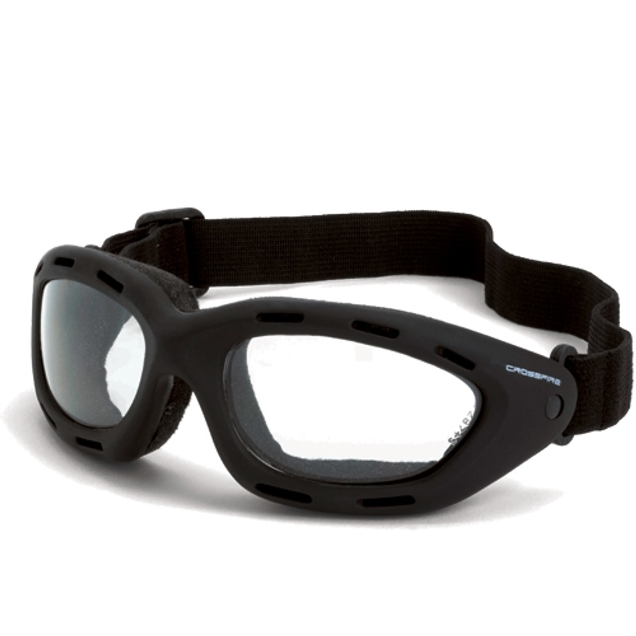 RADIANS 2724 AF Crossfire Safety Glasses With Black Frame And Clear Anti-Fog