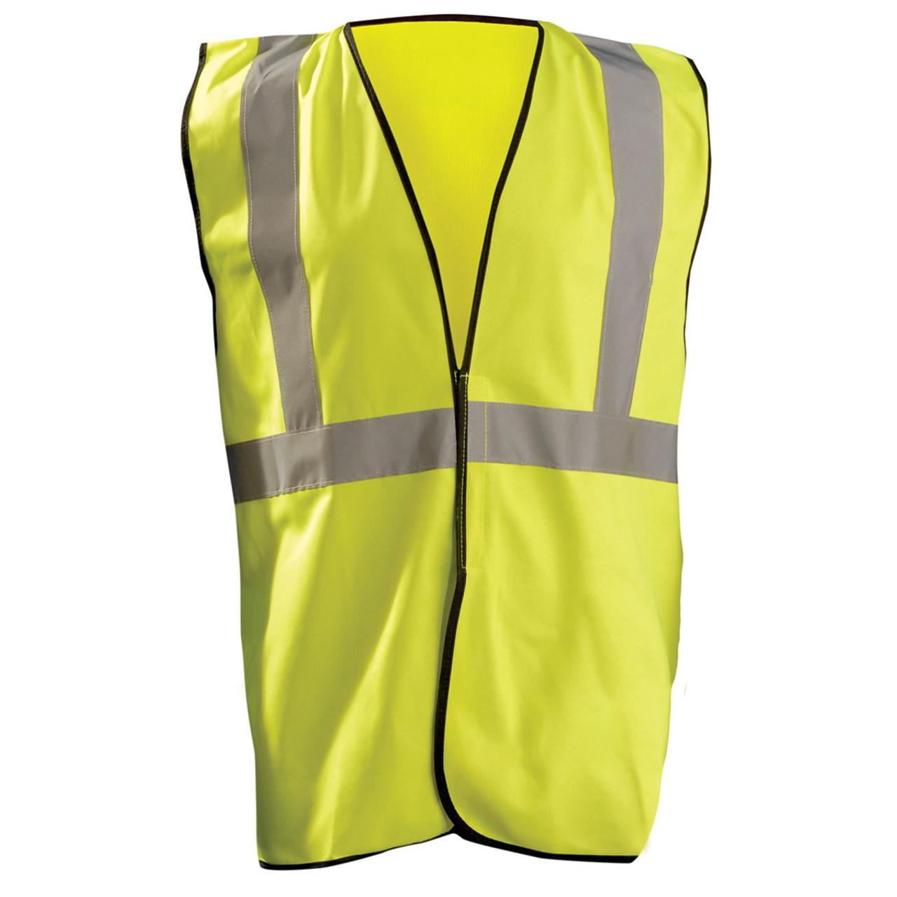 4886cfacb61 Occunomix Class 2 Hi Vis Economy Safety Vest ECO-G Yellow Front