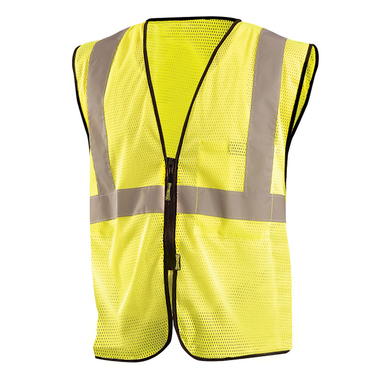79445897ef9 Occunomix Class 2 Hi Vis Economy Mesh Zipper Front Vest ECO-GCZ Yellow Front