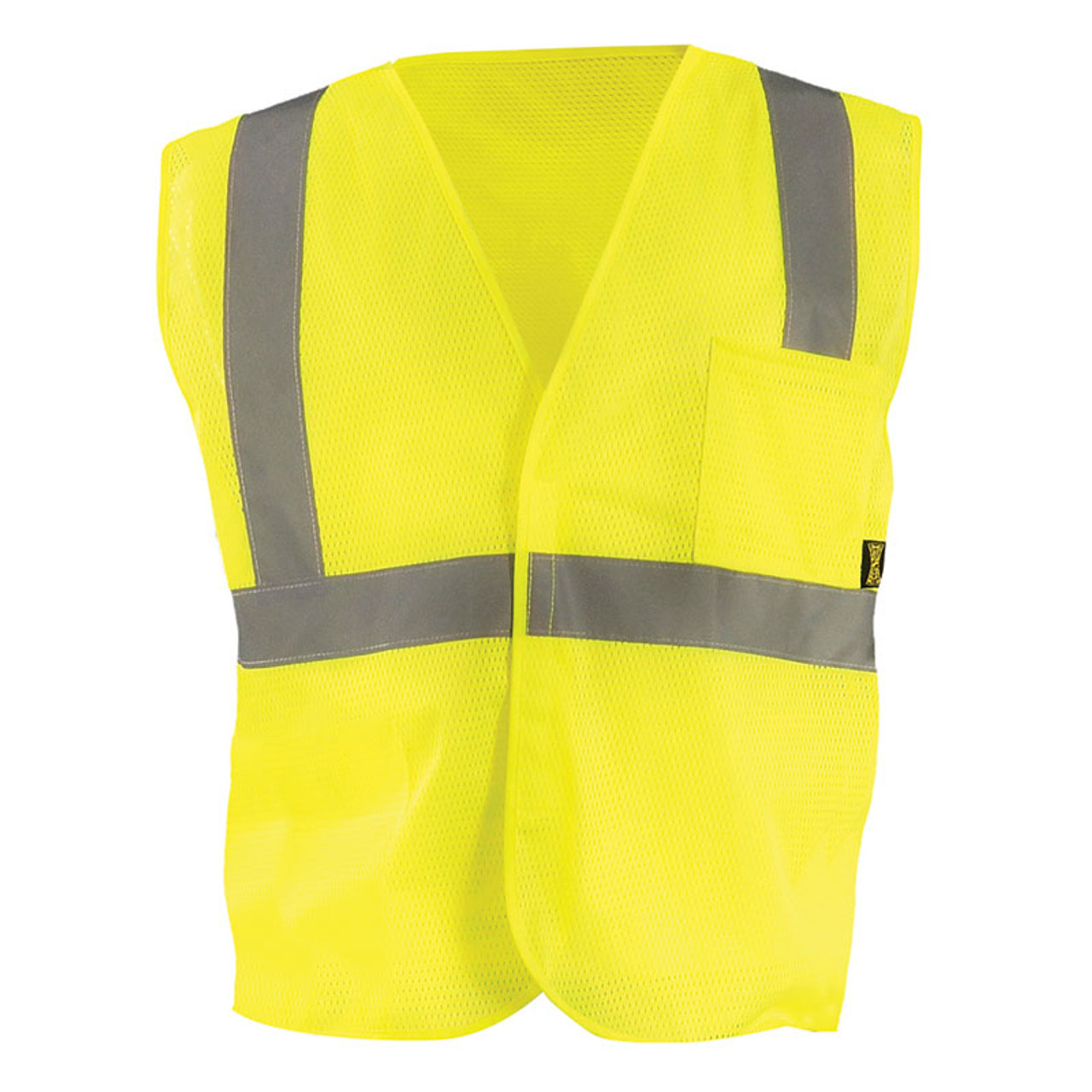 f0d5c6f2948 Occunomix Class 2 Hi Vis Mesh Value Economy Safety Vest ECO-IM Yellow Front