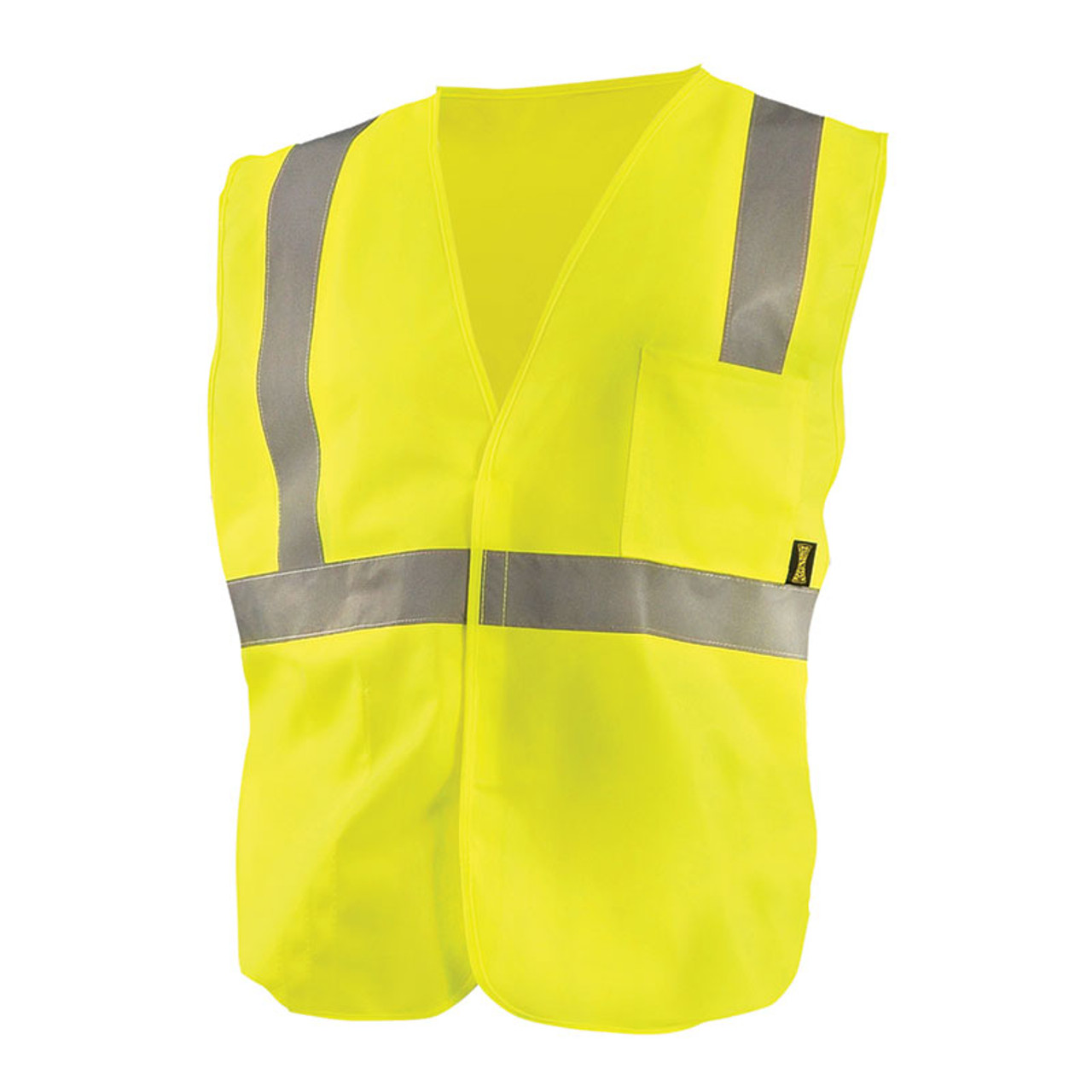 c4511b7ba7a Occunomix Class 2 Hi Vis Economy Safety Vest ECO-IS Yellow Front