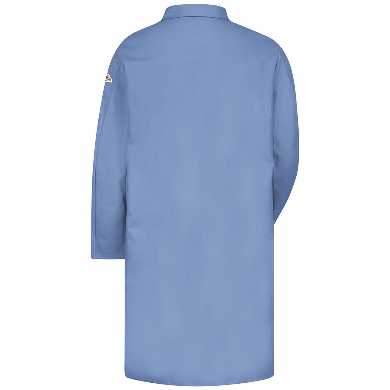 ATPV 7.7 Bulwark Flame Resistant Lab Coat EXCEL FR® Light Blue style # KEL2LB