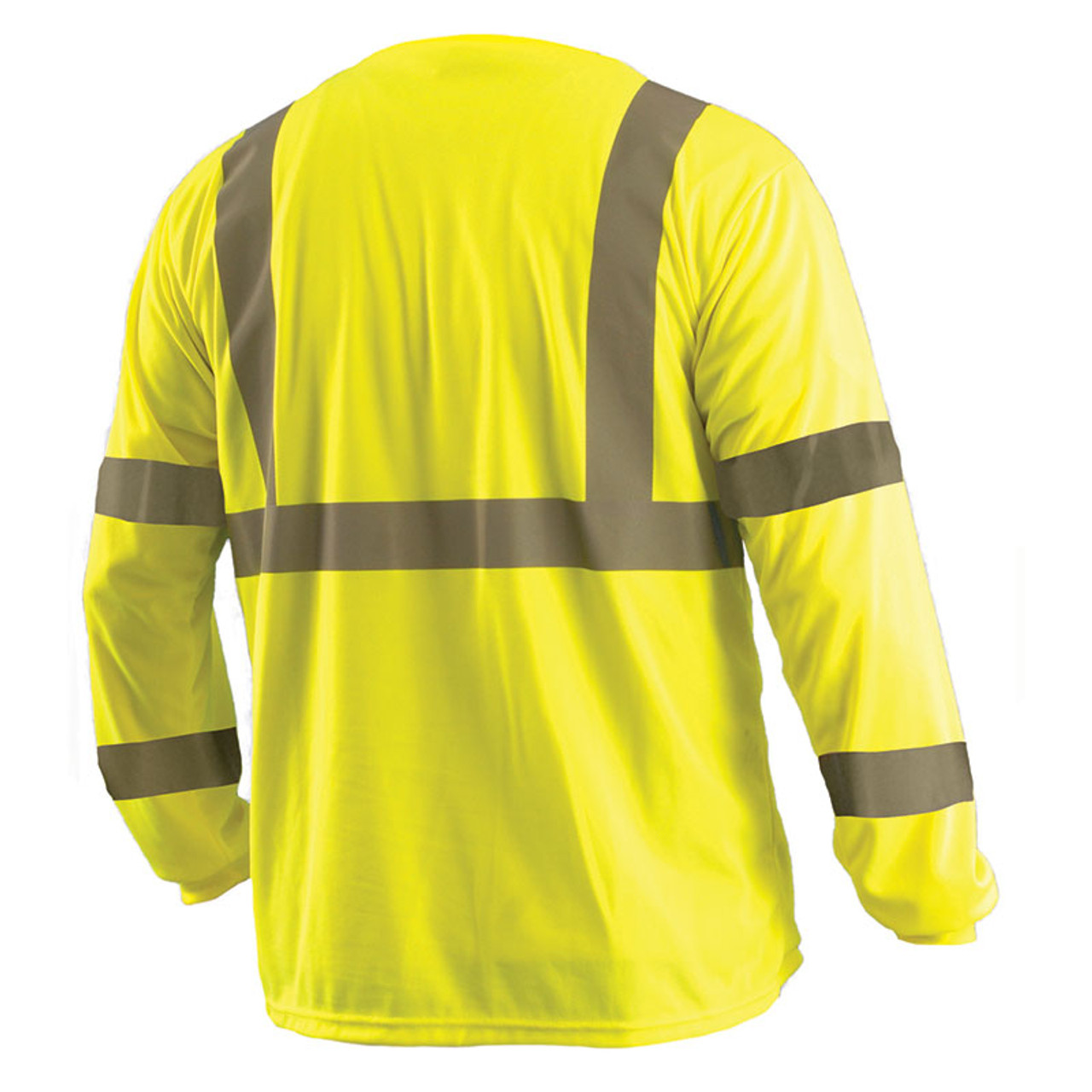 6XL, Hi Vis Yellow Lightweight Moisture Wicking Construction Shirts for Men /& Women Non-ANSI Brite Safety Style 213 Hi Vis Long-Sleeve Safety Shirt with Pocket