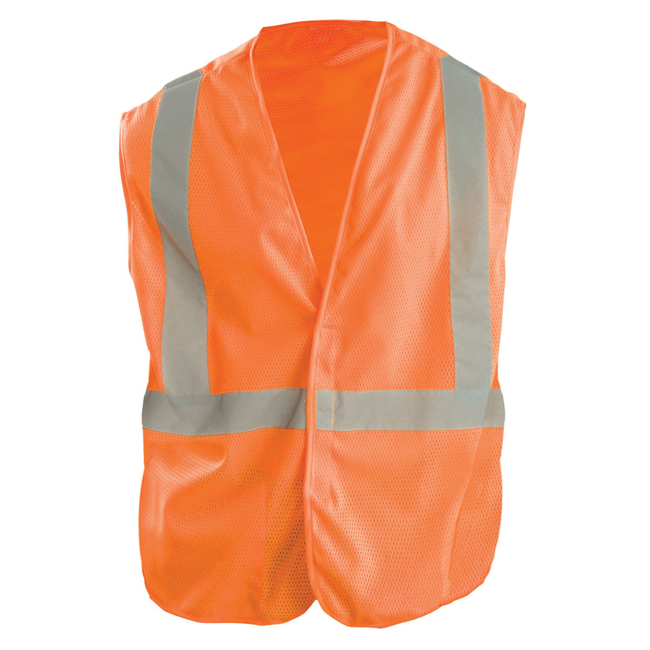 Workplace Safety Supplies Smart Reflective Safety Vest Pockets Breathable Yellow Orange Mesh Vest Work Wear