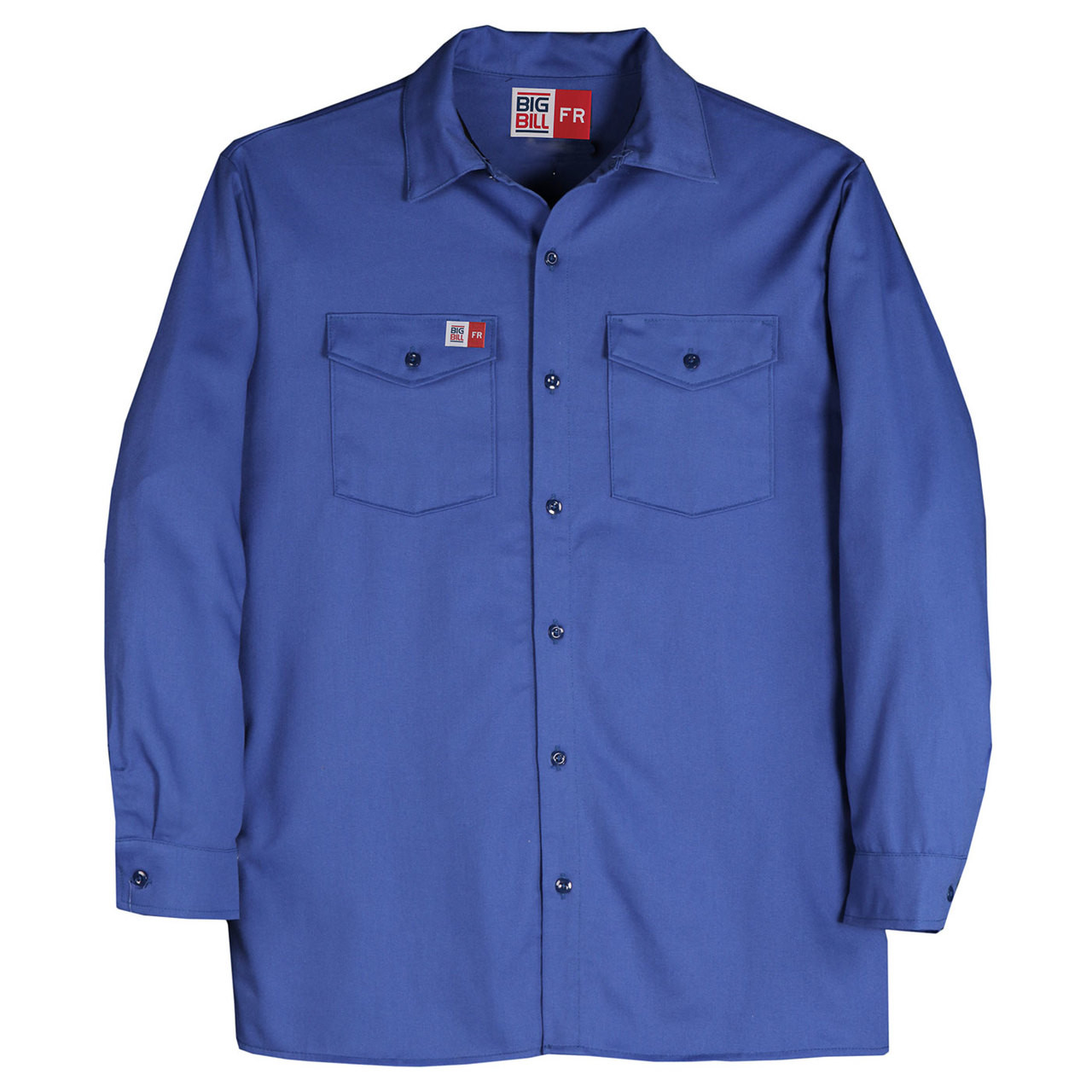 9fc0917819e Big Bill FR Westex UltraSoft Work Shirt TX231US7 Royal Blue