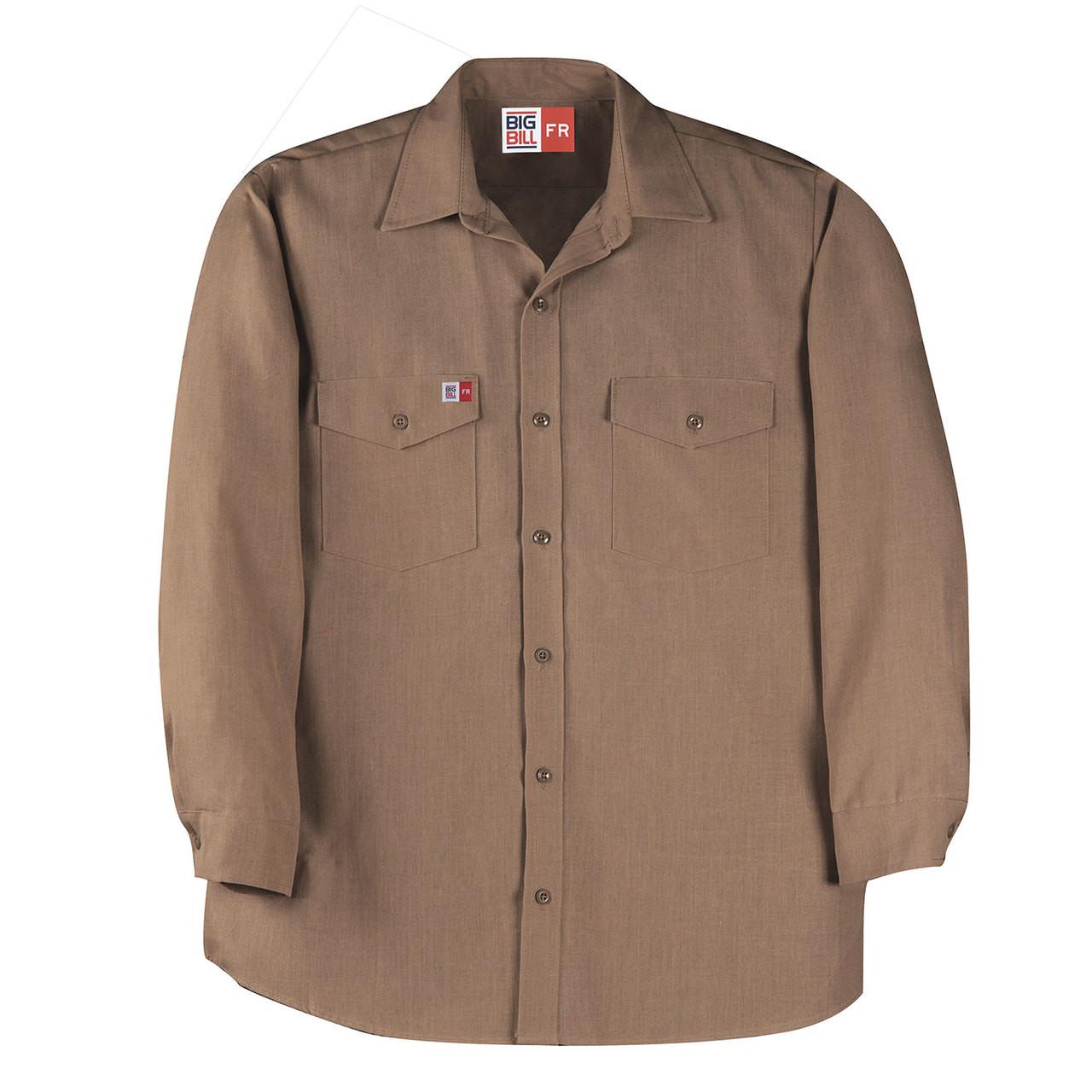 0c6d49dbe66 Big Bill FR 4.5 oz. Nomex Work Shirt TX290N4 Khaki