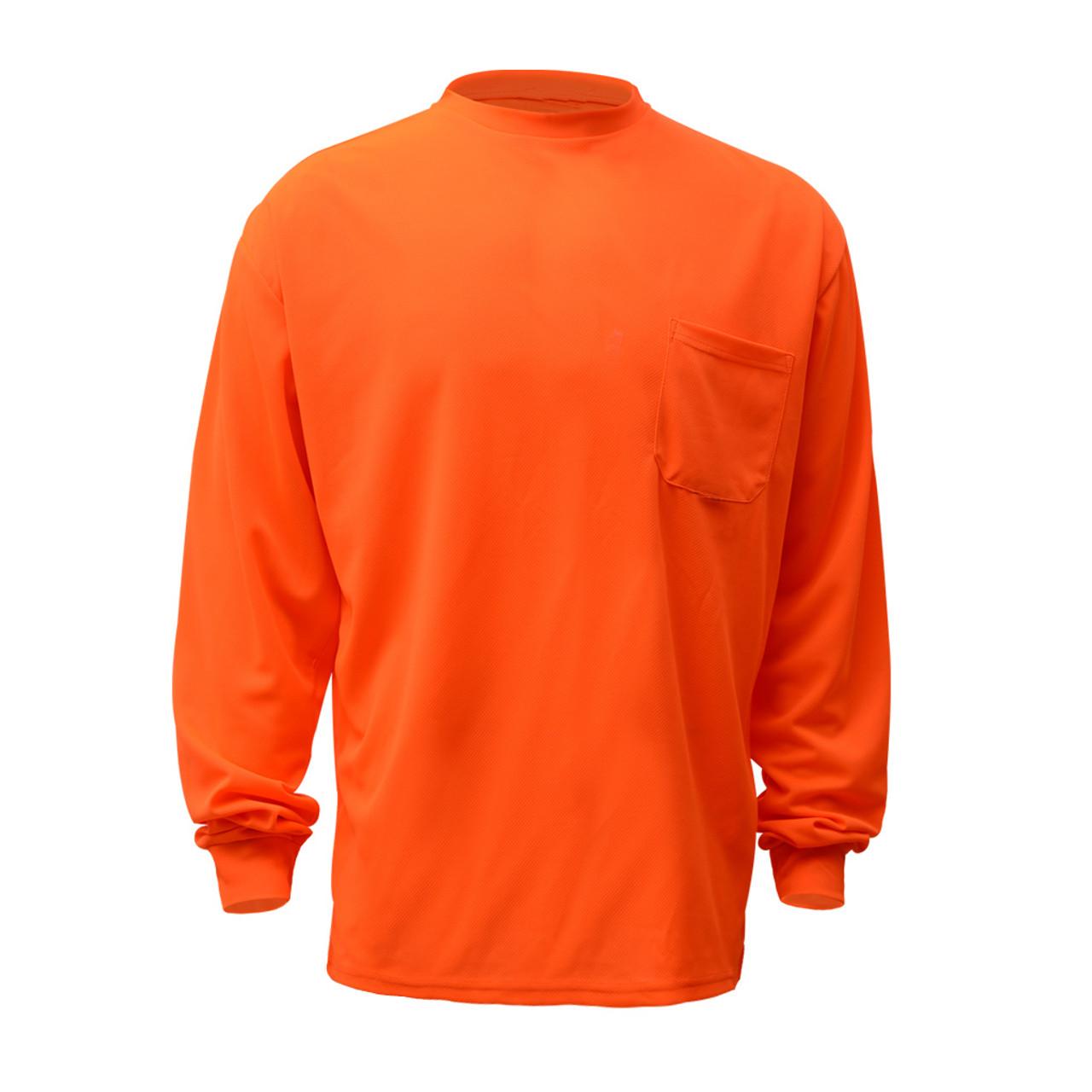 c346a95213e3 GSS Non-ANSI Hi Vis Orange Long Sleeve T-Shirt 5504 Front