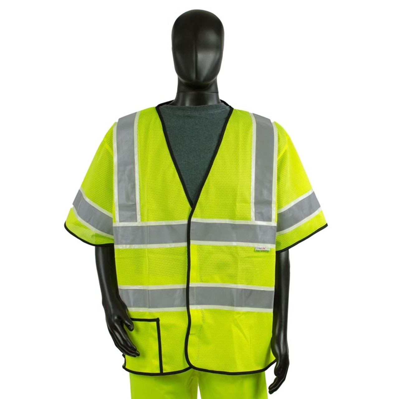 a34c236eaa Alpha Workwear Class 3 Hi Vis Illuminated Glow in the Dark Safety Vest A220  Front