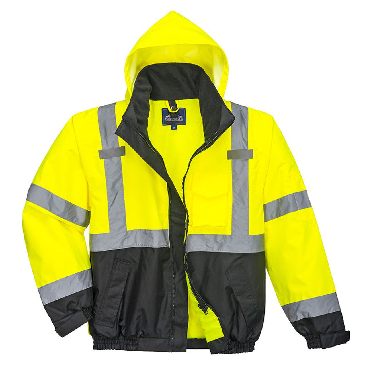 d8badb55b PortWest Class 3 High Visibility 3-in-1 Bomber Jacket US365