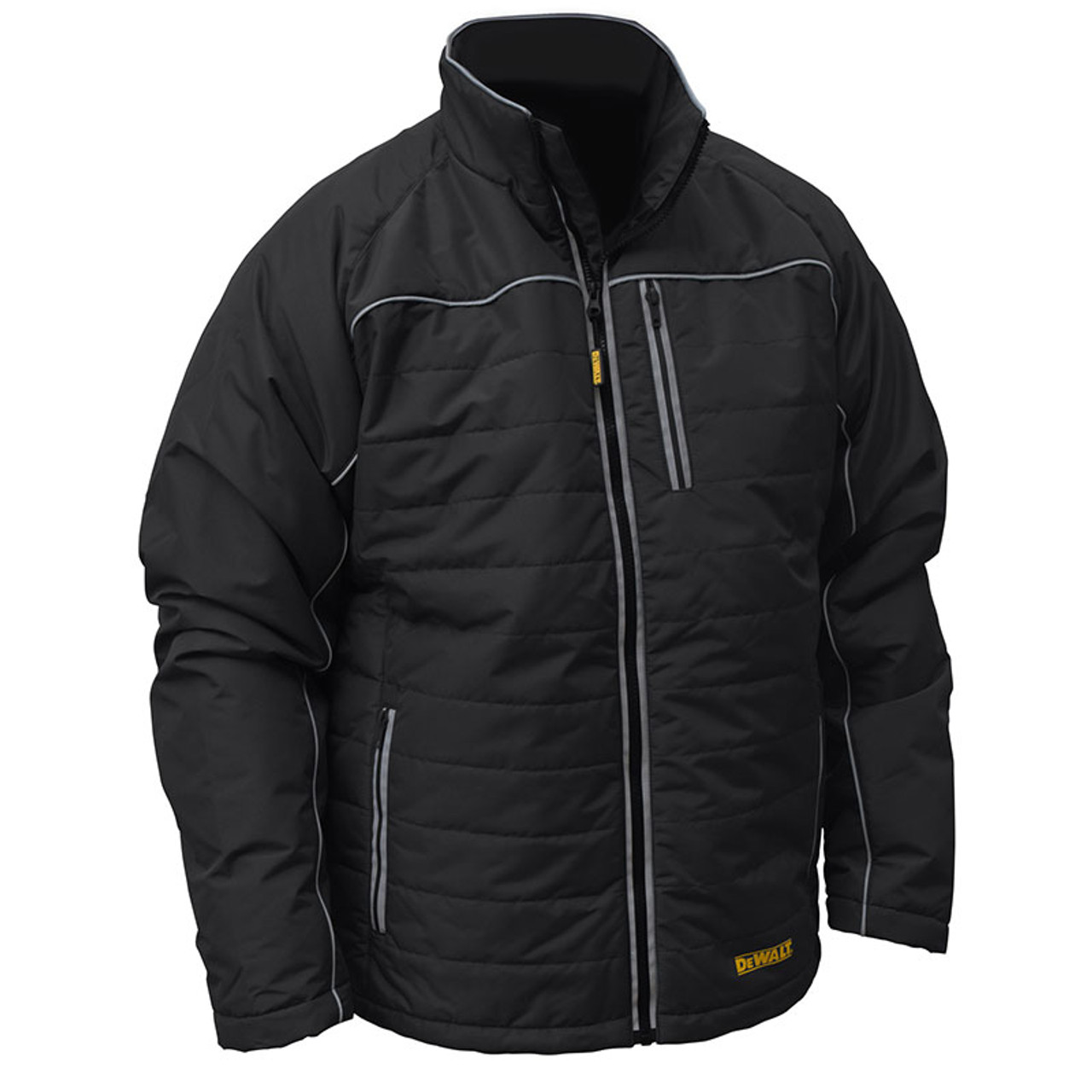 Dewalt Heated Quilted Black Work Jacket With Adapter Dchj075b
