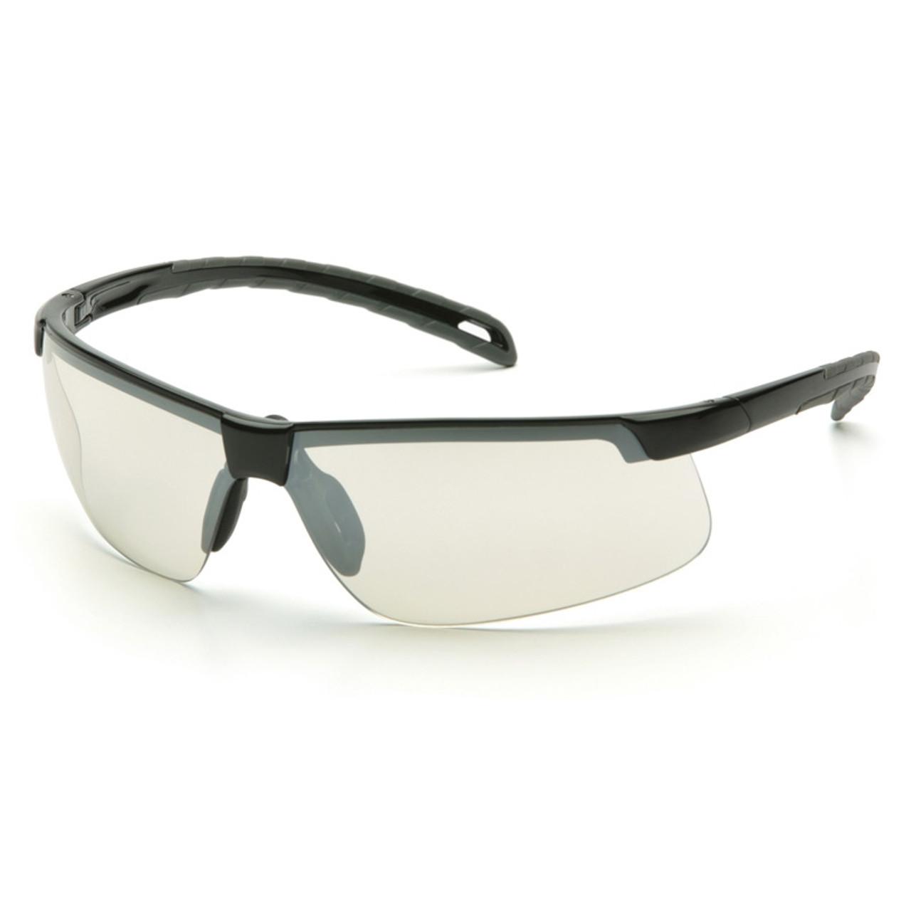 7206e1f4202 SB8680DT Safety Glasses Ever-Lite Indoor-Outdoor Mirror Anti-Fog Black Frame  -