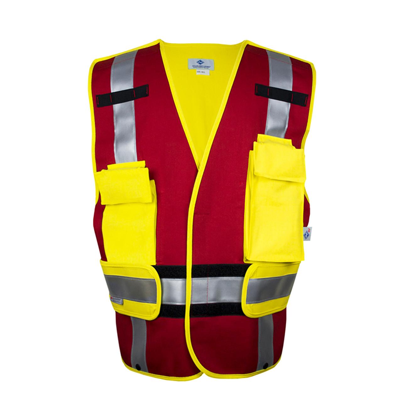 Nsa Fr Hi Vis Type P Red Break Away Public Safety Vest Vnt99340 Red