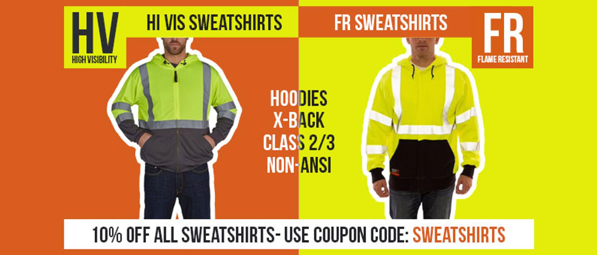 Hi Vis And FR Sweatshirts 10% Off