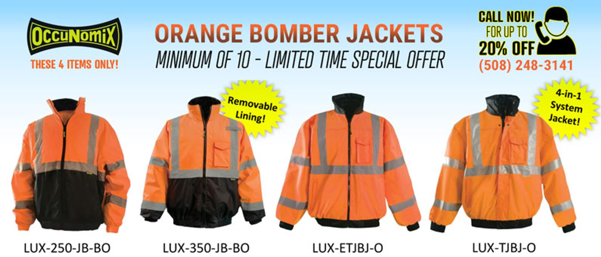 Orange Bomber Jackets Special Offer