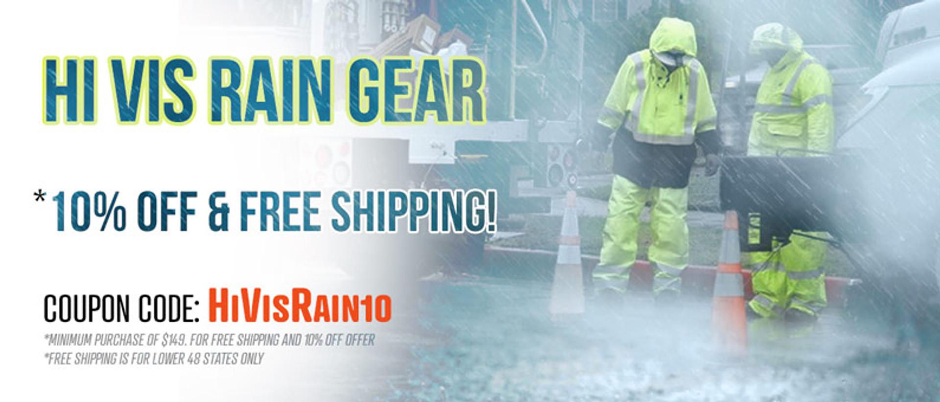 Hi Vis Rain Gear coupon