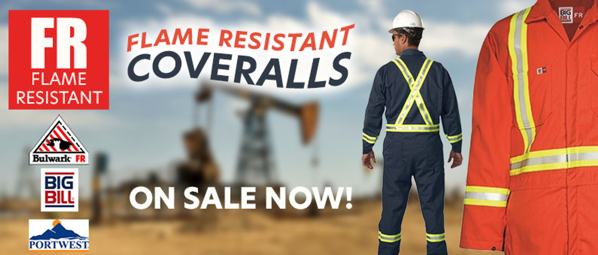 FR Coveralls on sale now