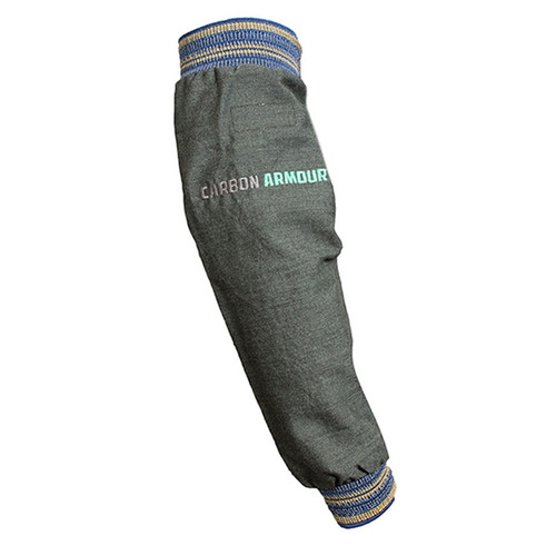 """NSA FR 21"""" 8.6 oz. Carbon Armour Ripstop Sleeve with Blue Elastic on Both Ends S02H3GC00LG"""